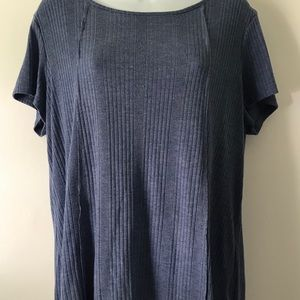 Heather blue shirt sleeved dress barn Sunday shirt